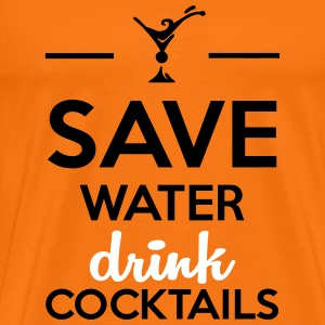 Alcool amusement - Save Water drink Cocktails Tee shirts - T-shirt Premium Homme