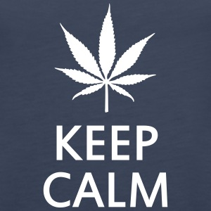 keep calm and smoke cannabis weed pot Débardeurs - Débardeur Premium Femme