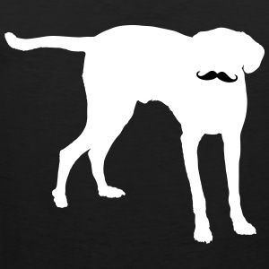 Dog Moustache T-Shirts - Männer Premium Tank Top