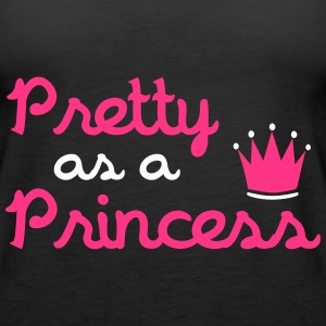 Pretty As A Princess Topper - Premium singlet for kvinner