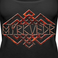 Design ~ Myrkvedr - Logo (Fire) Tank Top (Women)