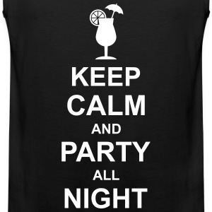 keep_calm_and_party_all_night_2_g1 T-Shirts - Men's Premium Tank Top