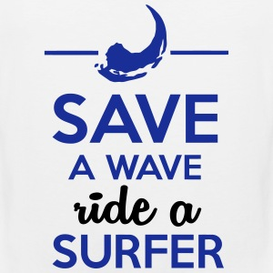 Sex und Surfer - Save Water ride a Surfer T-Shirts - Männer Premium Tank Top