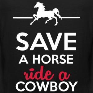 Love & Sex - Save a Horse Ride a Cowboy T-Shirts - Men's Premium Tank Top