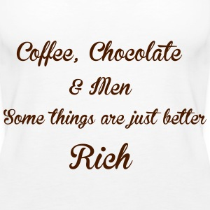 Coffee Chocolate Tops - Women's Premium Tank Top