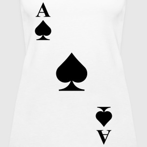 Ace of spades diagonal Tops - Women's Premium Tank Top