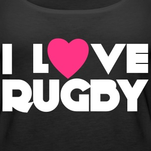 I Love Rugby Tops - Women's Premium Tank Top