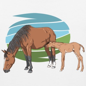 Mare and Foal T-Shirts - Men's Premium Tank Top
