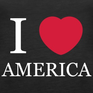 I love America Tops - Women's Premium Tank Top