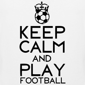 keep calm play football couronne ballon Tee shirts - Débardeur Premium Homme