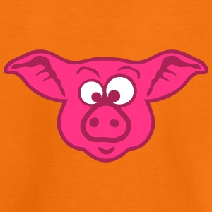 cochon animaux rigolo 2 face cartoon pig Tee shirts - T-shirt Premium Enfant