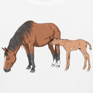 Mare and Foal T-Shirts - Männer Premium Tank Top