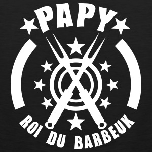 papy roi barbeuk barbecue logo Tee shirts - Débardeur Premium Homme