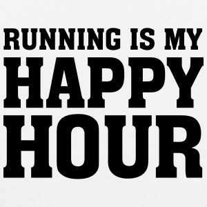 Running Is My Happy Hour Magliette - Canotta premium da uomo