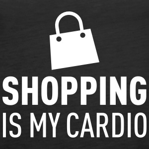 Shopping Is My Cardio Toppar - Premiumtanktopp dam