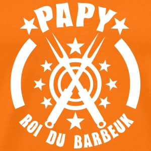papy roi barbeuk barbecue logo Tee shirts - T-shirt Premium Homme