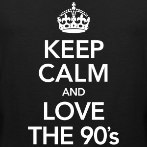 Keep Calm And Love The 90´s T-Shirts - Männer Premium Tank Top