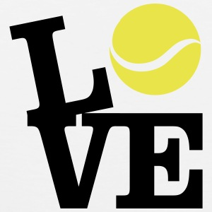 Love Tennis T-shirts - Mannen Premium tank top