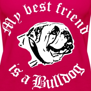 best friend english bulldog Tops - Frauen Premium Tank Top