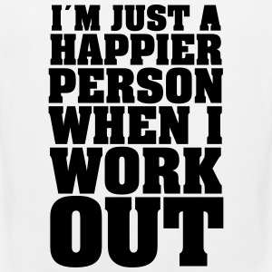 I´m Just A Happier Person When I Work T-shirts - Mannen Premium tank top