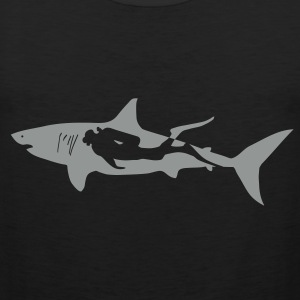 scuba diving diver shark jaws whale dolphin T-Shirts - Men's Premium Tank Top