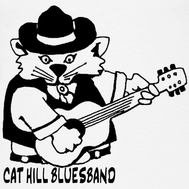 Cat Hill Tank-Top mit Blueskatze (weiß)