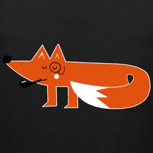 Funny swag hipster cartoon fox T-Shirts - Men's Premium Tank Top