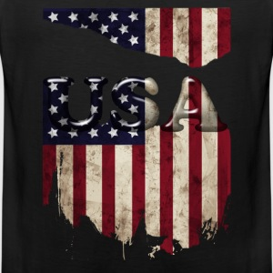 usa_grunge3 T-Shirts - Men's Premium Tank Top