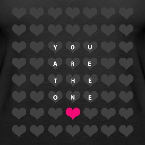 You are the one - Alla hjärtans dag Toppar - Premiumtanktopp dam