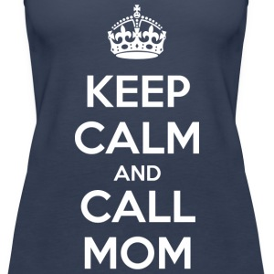 Keep calm and call mom (dark) Toppar - Premiumtanktopp dam