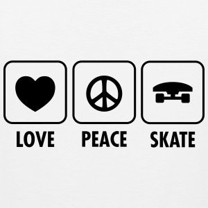 Love, Peace, Skate T-Shirts - Men's Premium Tank Top