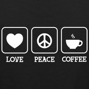 Love, Peace, Coffee T-Shirts - Männer Premium Tank Top