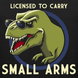 Schwarz Licensed to Carry small arms Tank Tops - Männer Premium Tank Top