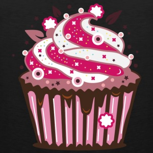 A cupcake with frosting T-Shirts - Men's Premium Tank Top