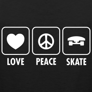 Love, Peace, Skate T-Shirts - Männer Premium Tank Top