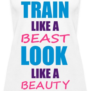 Train Like A Beast Tops - Frauen Premium Tank Top