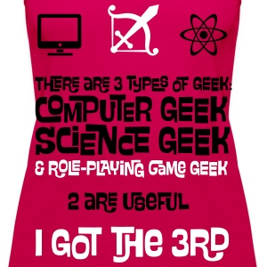 3 Types of Geek - Computer, Science and RPG Tops - Women's Premium Tank Top
