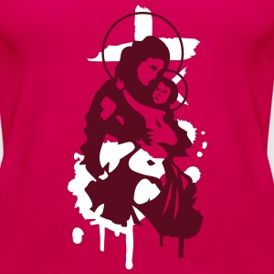 Virgin Mary with Child Tops - Women's Premium Tank Top