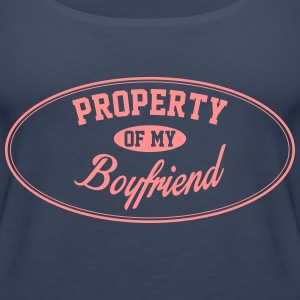 PROPERTY OF MY BOYFRIEND Tops - Women's Premium Tank Top