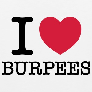 I (Heart) Burpees T-shirts - Mannen Premium tank top
