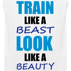Train Like A Beast T-shirts - Herre Premium tanktop