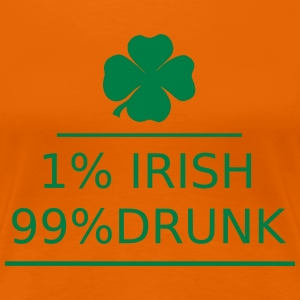 1% irish 99% drunk T-skjorter - Premium T-skjorte for kvinner