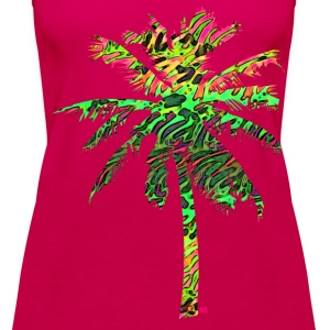 neon flamingo palme Tops - Frauen Premium Tank Top
