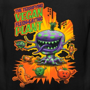 Black The Terrifying Vegan Flesh Eating Plant Tank Tops - Men's Premium Tank Top