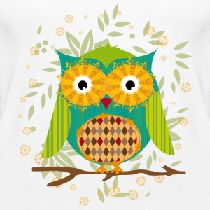 Owl sitting on a branch  Tops - Women's Premium Tank Top