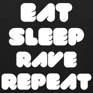 EAT SLEEP RAVE REPEAT Magliette - Canotta premium da uomo