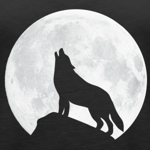 Howling Wolf - Moon Tops - Women's Premium Tank Top