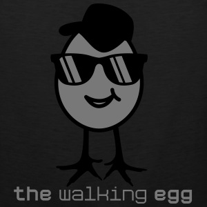 walking egg with sunglasses T-Shirts - Men's Premium Tank Top