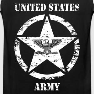 us vintage army star 03 T-Shirts - Men's Premium Tank Top