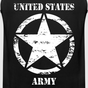 us vintage army star 02 T-Shirts - Men's Premium Tank Top